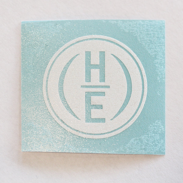 "3"" x 3"" HE Circle Logo Vinyl Transfer Stickers"