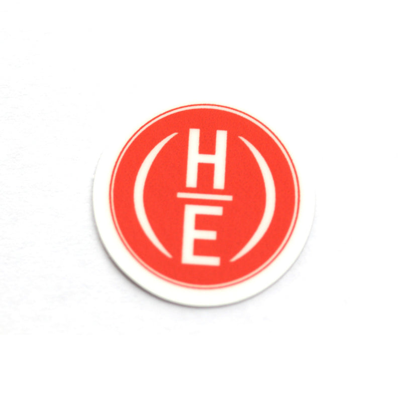 "1"" x 1"" Circle HE Logo Stickers"