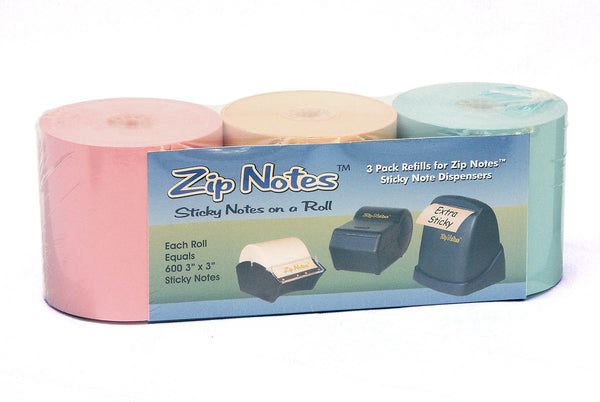 Zip Notes Refill 3 Colors Assortment Pack