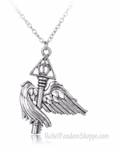 Hallows Winged Key Pendant