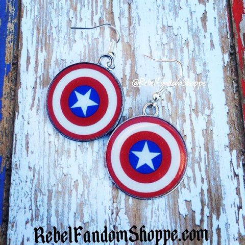 American Hero Shield Earrings