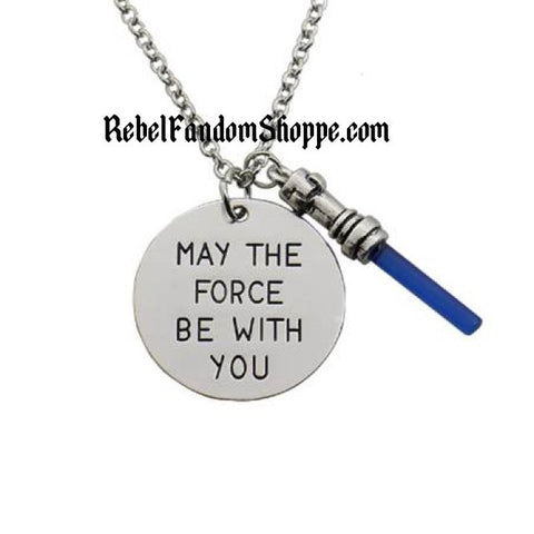 Force Charm Necklace - Blue