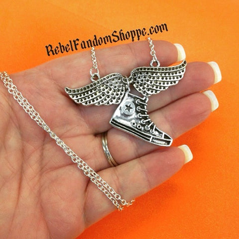Percy Flying Shoe Necklace