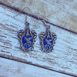 House Earrings-Raven