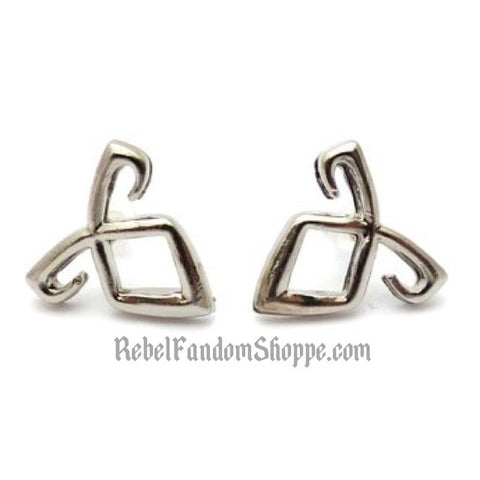 Mortal Rune Earrings - Silver