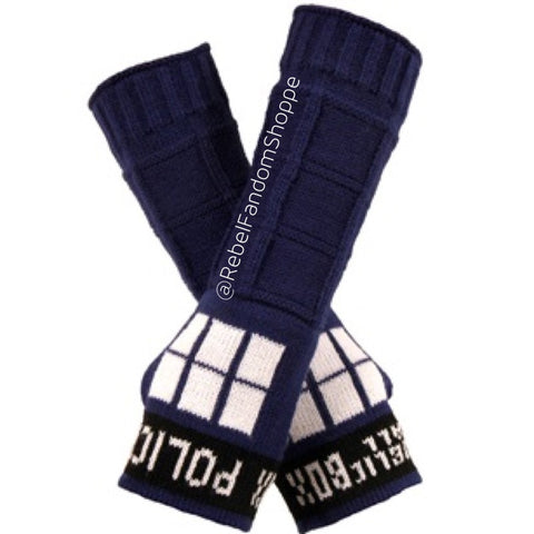 Doctor Who Tardis Arm Warmers