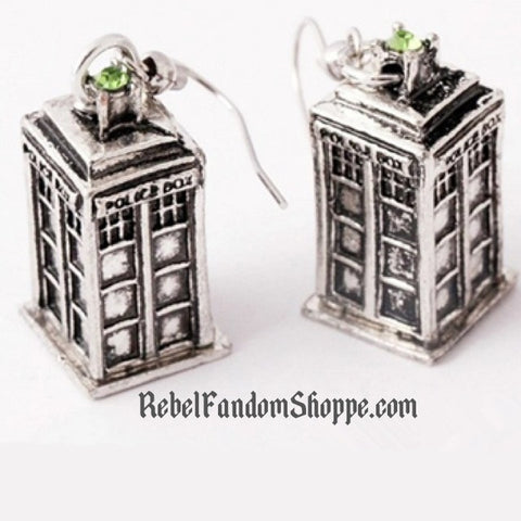Doctor - Police Box Earrings