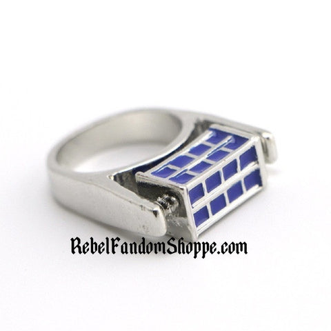 Doctor -Police Box Ring - Spinning