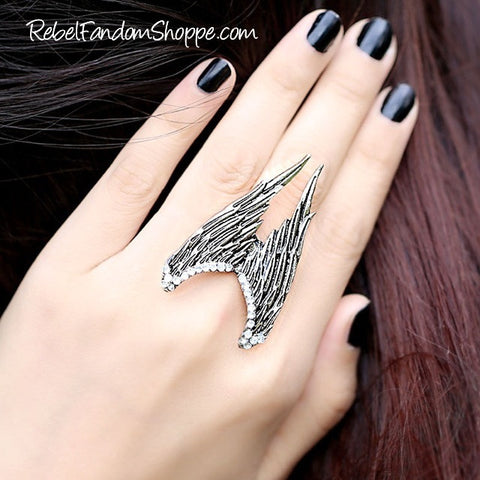 Angel Wings Ring - Silver