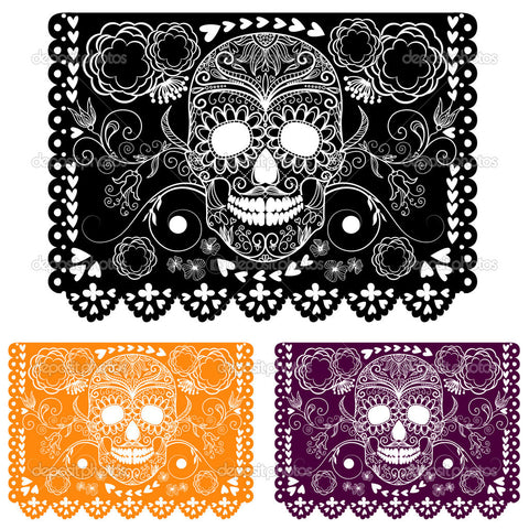 Day of the Dead Perforated Paper