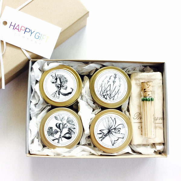 Candle Gift Box with Travel Pouch and Bedside Matches