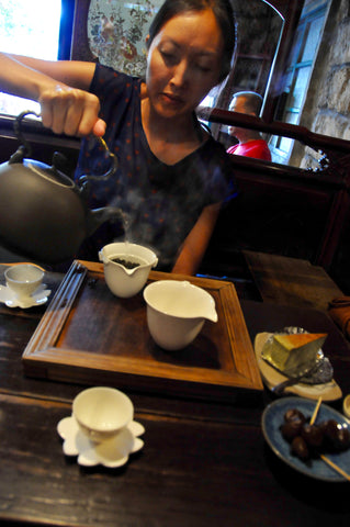 Kym Cooper in Jiufen Tea House