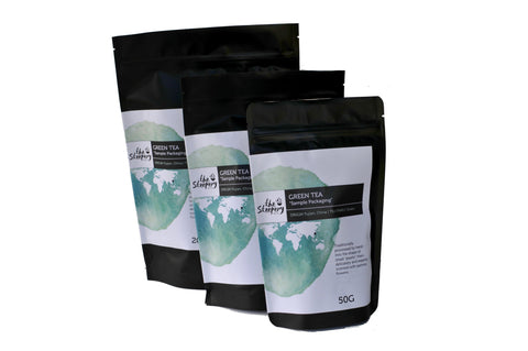 Sample Green Tea stand up pouch packaging