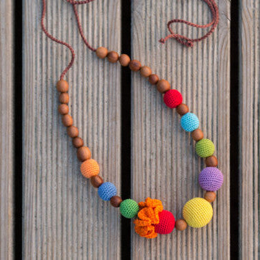 Bright Rainbow Necklace - Hug and Cuddles