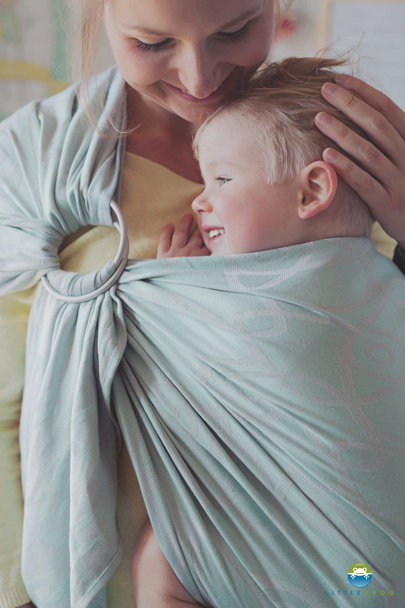 Little Frog Mint Vision Ring Sling - Hug and Cuddles Canada