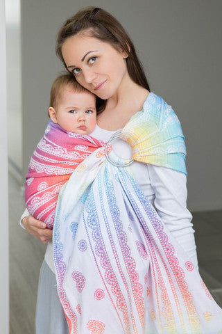 Lenny Lamb Rainbow Lace (Gathered) - Hug and Cuddles