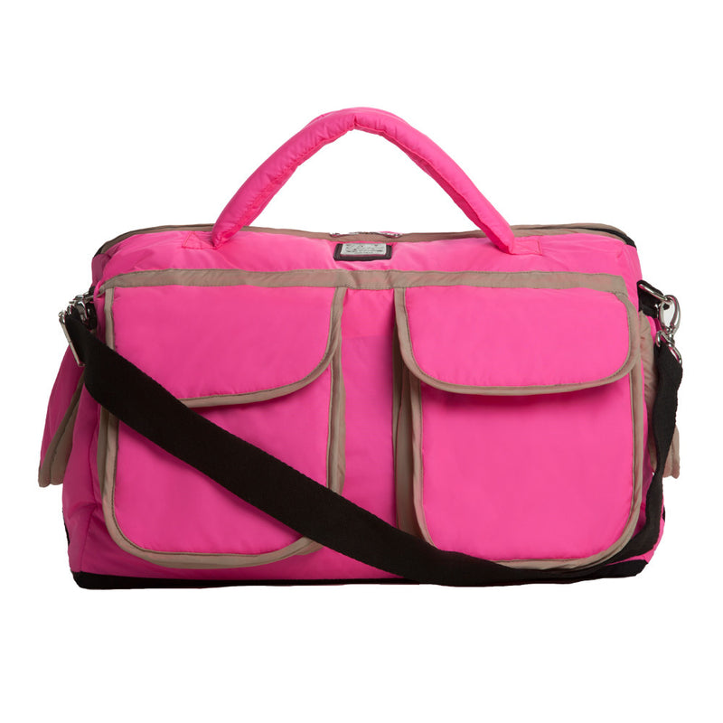 Voyager Diaper Bag - Neon Pink - Hug and Cuddles