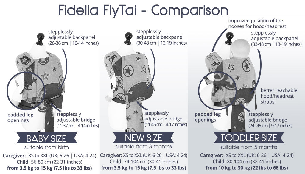 Fidella Meh Dai / Fly Tai -NEW SIZE/ In Between (Click for Colour Options)