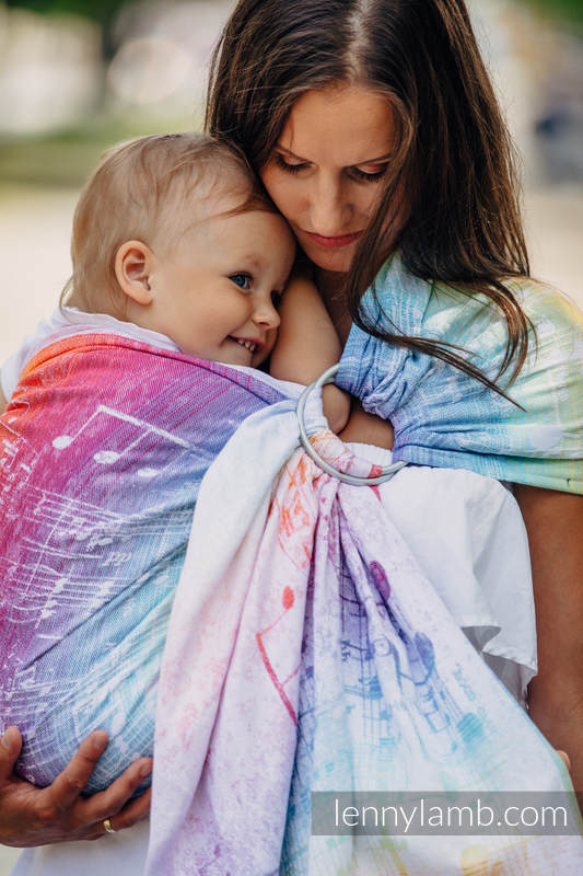 Lenny Lamb Symphony Rainbow Light Ring Sling - Gathered