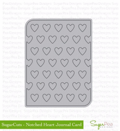 SugarPea Notched Heart Journal Card Die - The Heart Desires