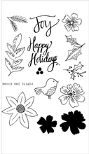 Flora & Fauna Floral Happy Holidays Set - The Heart Desires