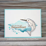 Hero Arts Believe in Yourself Narwhal Stamp Set