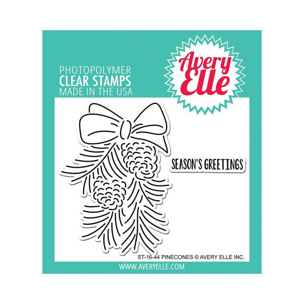 Avery Elle Pinecones Stamps