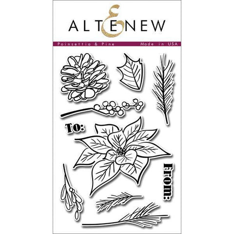 Altenew Poinsettia & Pine - The Heart Desires