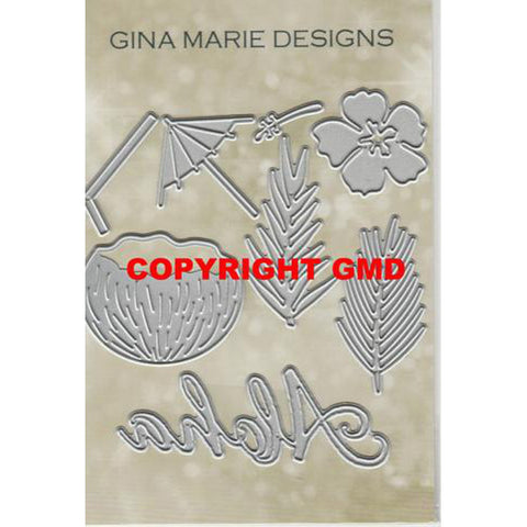 ALOHA TROPICAL DRINK DIE SET - GINA MARIE DESIGNS