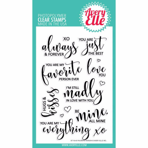 Avery Elle Favorite Person Stamp Set - The Heart Desires