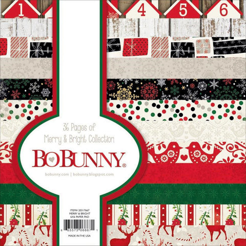 BoBunny Merry & Bright Collection 6x6 Paper Pad - The Heart Desires