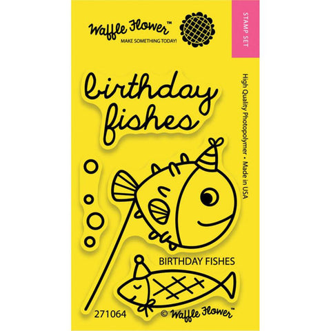 Waffle Flower Birthday Fishes