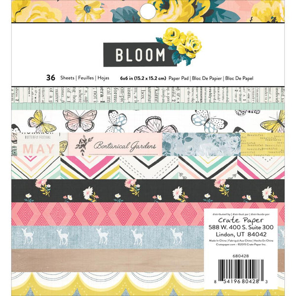 Bloom 6x6 Paper Pad - The Heart Desires