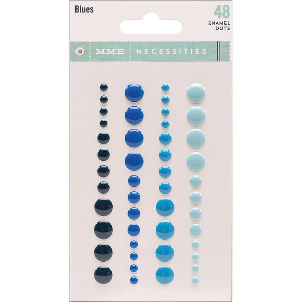 My Minds Eye Necessities Adhesive Enamel Dots Blues