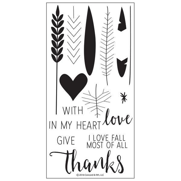 Concord & 9th Give Thanks Stamp Set - The Heart Desires