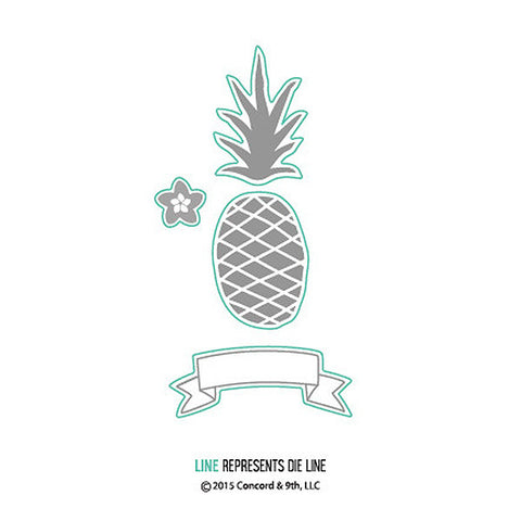 Concord & 9th Pop Art Pineapple Die - The Heart Desires