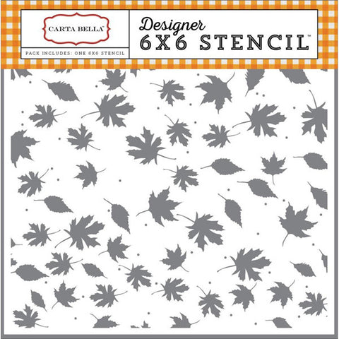 Carta Bella Crisp Autumn Stencil 6x6 - The Heart Desires