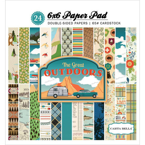 The Great Outdoors 6x6 Paper Pad - The Heart Desires