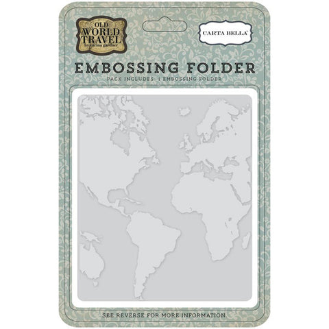 Carta Bella World Embossing Folder