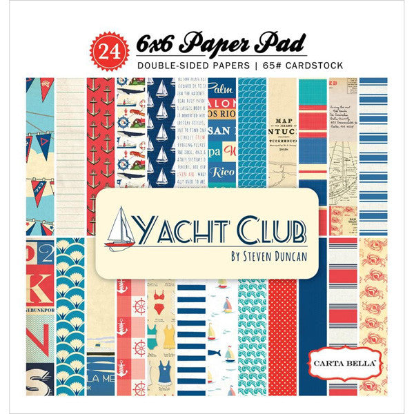 Yacht Club 6x6 Paper Pad - The Heart Desires