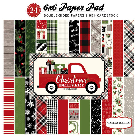 Carta Bella Christmas Delivery 6x6 Paper Pad - The Heart Desires