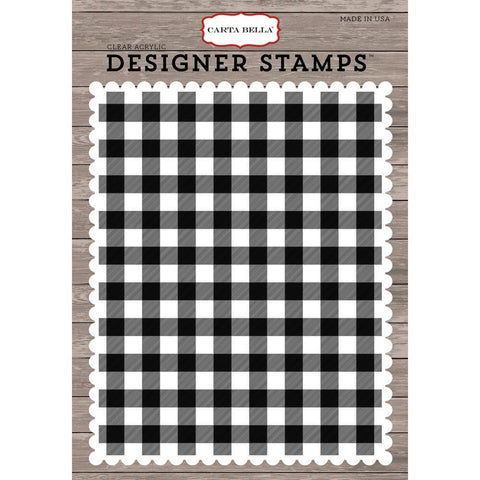 Carta Bella Christmas Plaid A2 Stamp - The Heart Desires