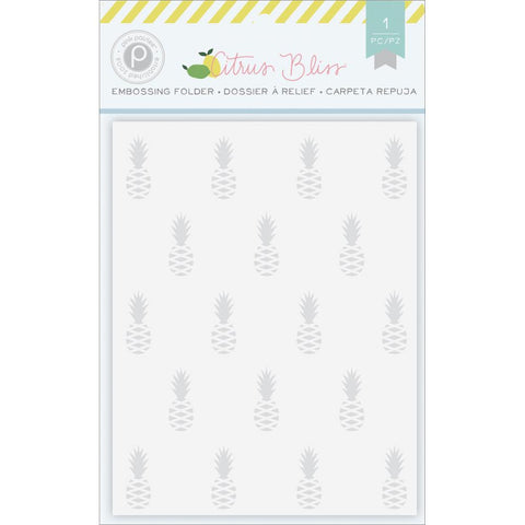 Citrus Bliss Embossing Folder: Pineapple - The Heart Desires