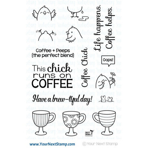 Your Next Stamp Coffee Chick - The Heart Desires