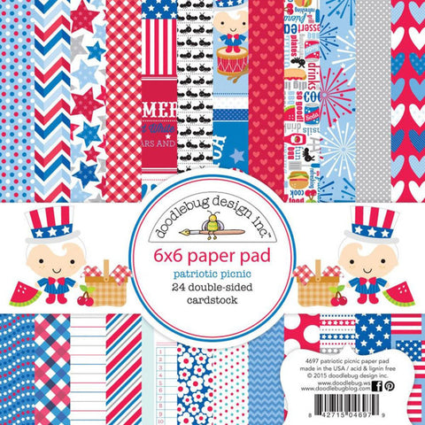 Patriotic Picnic 6x6 Paper Pad - The Heart Desires