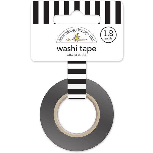 Black and White Stripe Washi