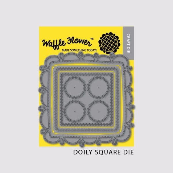 Waffle Flower Doily Square Die