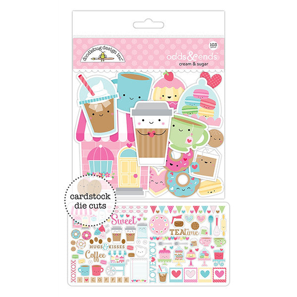 Doodlebug Cream and Sugar Odds and Ends Die Cuts - The Heart Desires