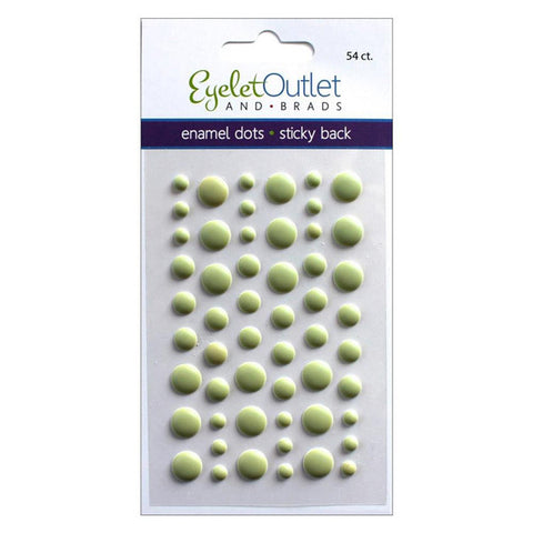 Matte Green Enamel Dots - The Heart Desires