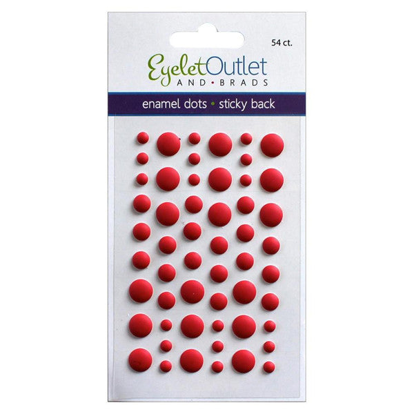 Matte Red Enamel Dots - The Heart Desires